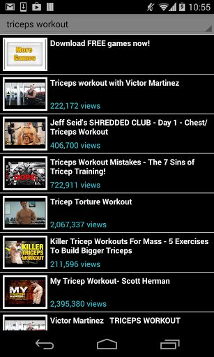 triceps workout!<br>No gym to go to? no problem, triceps workout is your own personal trainer, anywhere, any time. Get in shape, fast following any of the available videos in this app. No place and time limitations, exercise at home and feel good about yo