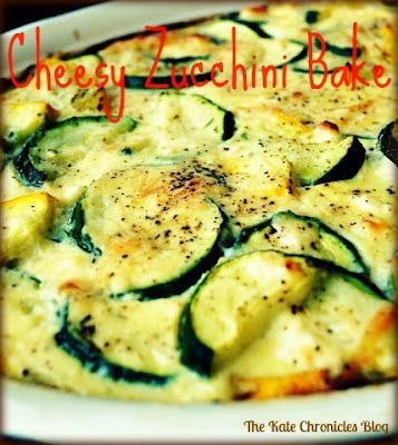 Cheesy Zucchini Bake - Molly McButter is perfect when all you want is the taste of butter with less calories and no cholesterol -- mollymcbutter.com #zucchini #bake #recipe