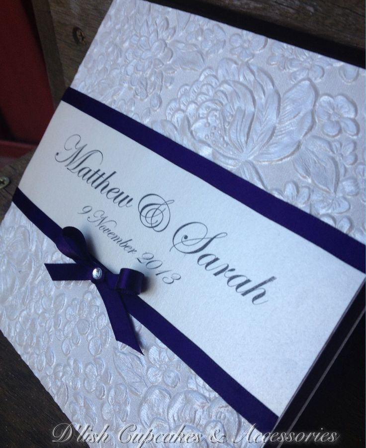 Pearl blossom bespoke wedding invitations. With a hint of plum.