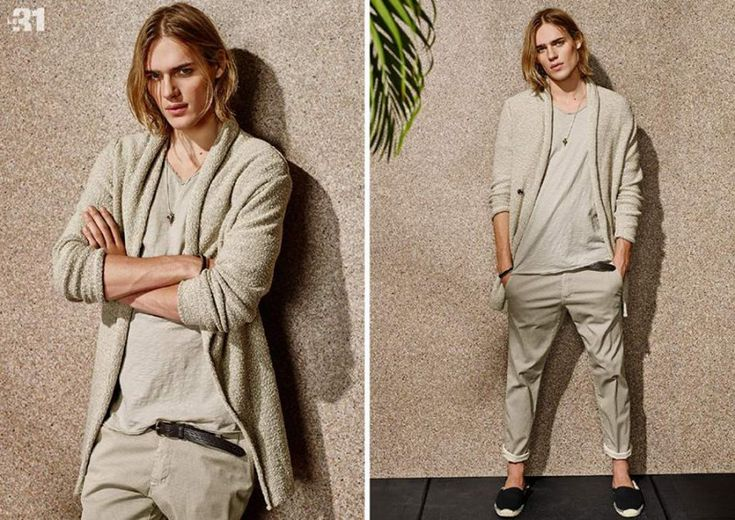 Casual Chic: Ton Heukels wears a stone hued outfit from Simons' Le 31 line.