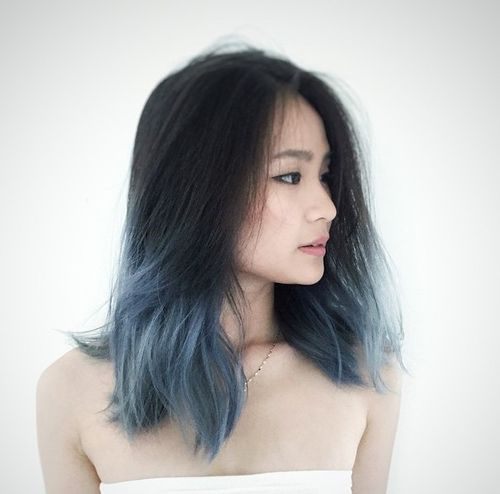 black to gray ombre hair                                                                                                                                                                                 More