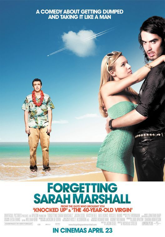 Forgetting Sarah Marshall is one of my favorite comedies.  It's funny, brilliant, and there's something sort of inspirational about it too.