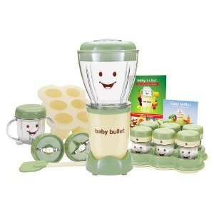 Baby Bullet!  Just a glorified blender, but look at the happy little food cups!  :)