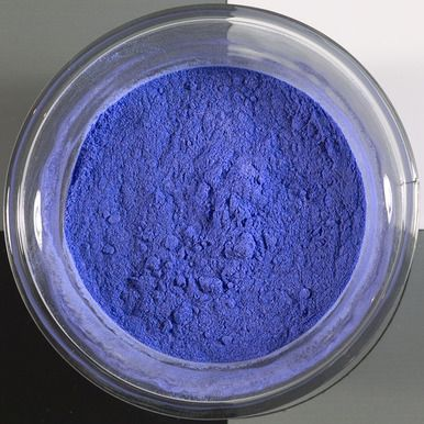 """lapis lazuli pigment fra angelico blue, Cennini's method PRODUCT DESCRIPTION """"Lapis Lazuli - Fra Angelico blue pigment  This pigment is prepared by my adaptation of Cennini's method. See full description for details.  particle size 0-40µ"""""""