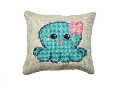Aqua octopus cross stitch pattern PDF DIY by SarahCooklandDesigns