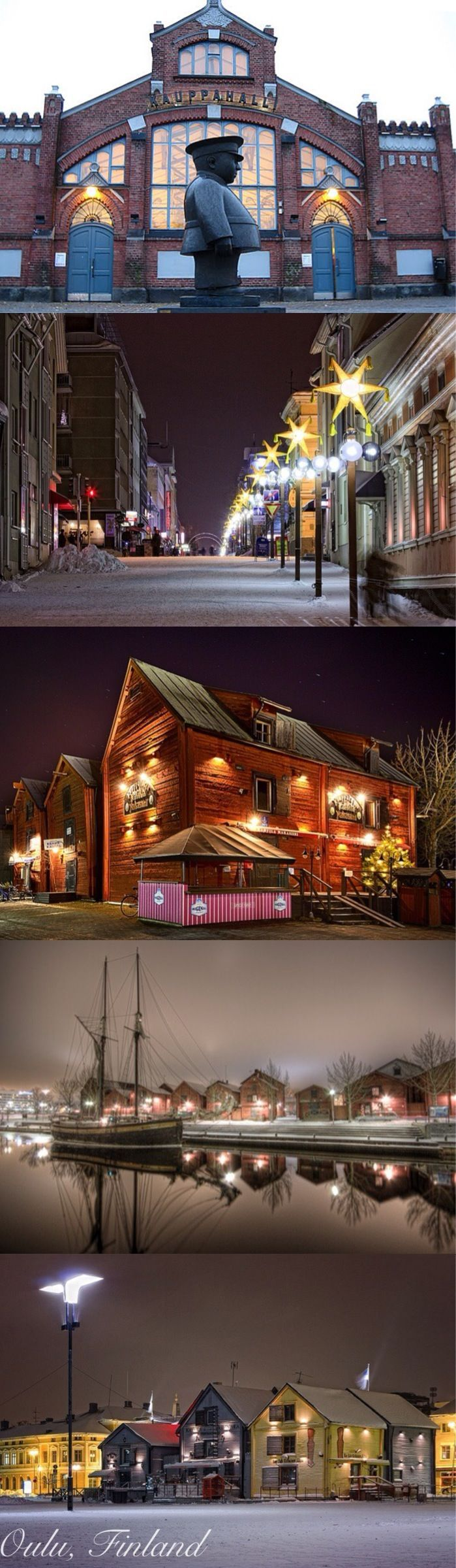 Oulu in the winter, Finland #travel #destinations