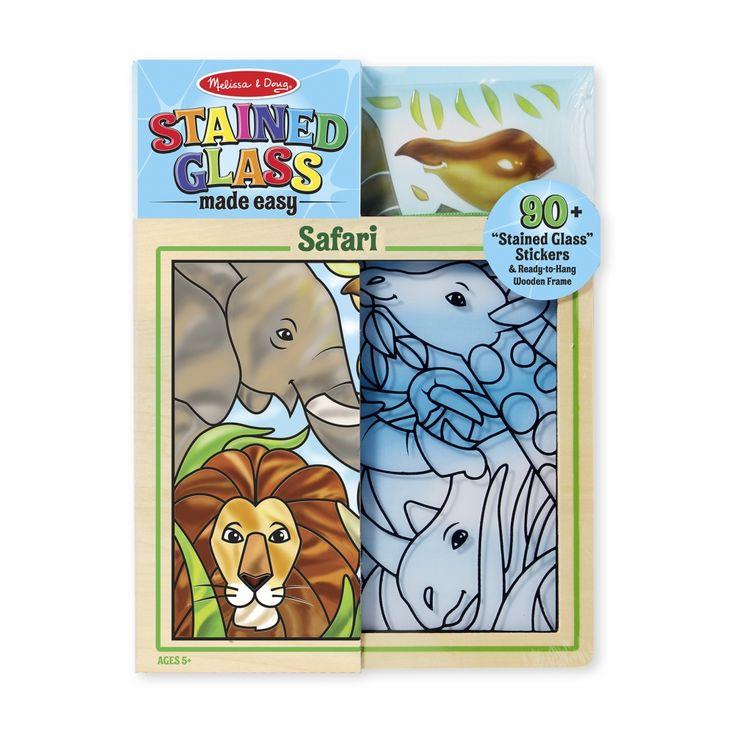 Melissa & Doug Kreatív játék, Ólomüveg képkészítő készlet, szafari - Játéktenger.hu