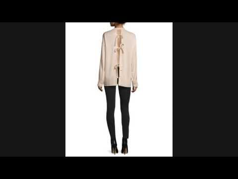★★ SALE!! Helmut Lang Tie-Back Stretch Silk Top & Stretch Reflex Legging...