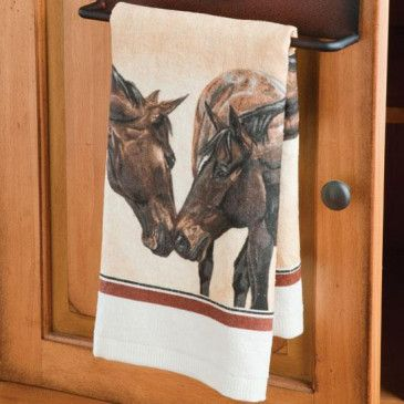 Horse Kiss Terry Towel