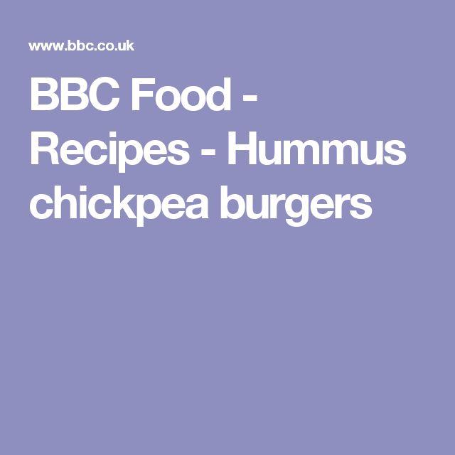 BBC Food - Recipes - Hummus chickpea burgers