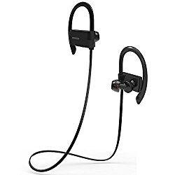 スポーツイヤホン Bovon Bluetooth 4.1 ワイヤレス イヤホン マイク内蔵 ハンズフリー 通話 ノイズキャンセリング機能 高音質 防水 防汗 耳掛け式 イヤーフック付き iPhone/Android スマートフォンなど対応 ブラック おすすめ度*1 ASIN B01LCW3XEE イヤーフックが耳に安定させ、イヤーピースは耳にしっかりと差し込まれる。遮音性は普通。音漏れはやや目立つ。 aptXには対応しないが、通信遅延はほぼない。途絶もなく、通信的には安定しており、動画鑑賞も問題ないようだ。 【1】外観・インターフェース・付属品 付属品はイヤーピースの替え、充電用USBケーブル…