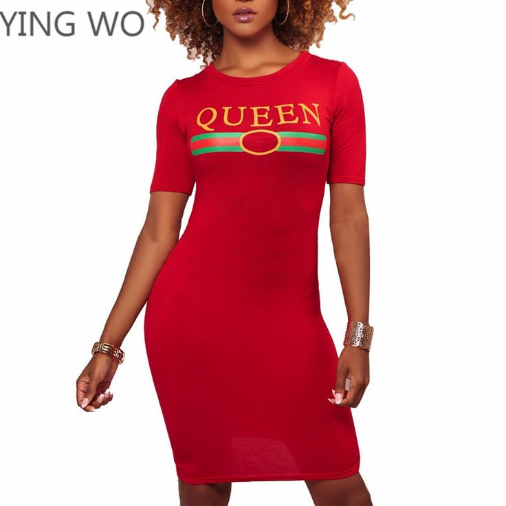 Find More Dresses Information about Q U E E N Letters Pattern Red/Yellow Short Sleeve O Neck Bodycon Dress Simple Design Casual Ladies Plus Size Mini Dresses S XXXL,High Quality mini dress,China bodycon dress Suppliers, Cheap dress simple from Girls Fashion Collection on Aliexpress.com