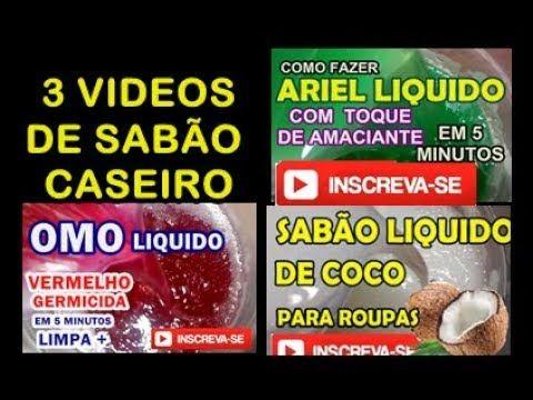 sabão liquido OMO, ARIEL e de COCO 3 videos em 1 Original Paulo Adriano Lima - YouTube
