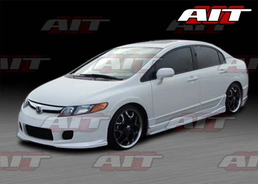 I want this kit for the Honda from Hell. At least then she would look pretty.   2003 Honda Civic Sedan with body kits | Honda Civic Full Body Kits, Honda Civic 4 dr Full Body Kit 06 07 08 09 ...