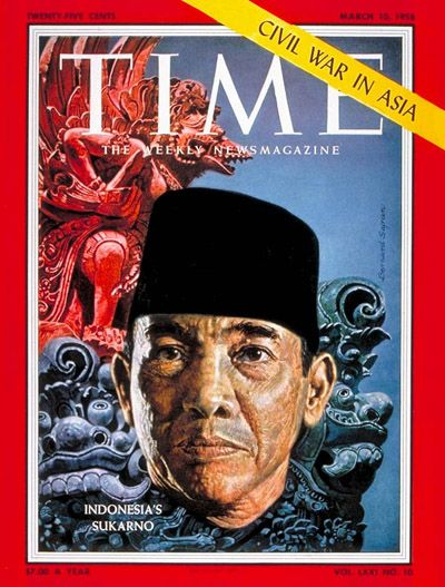 TIME Magazine cover - Soekarno - Mar. 10, 1958