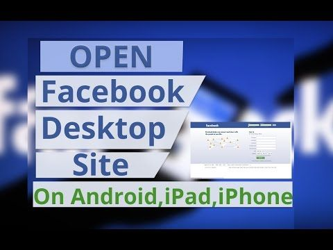 Open Facebook Desktop Site On A Mobile Phone