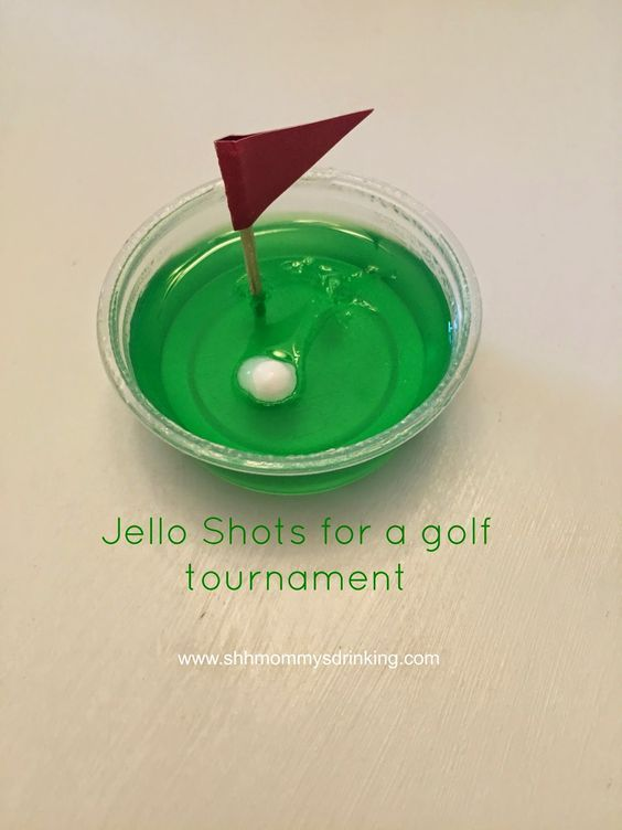 Cute jello shots for Golf Tournaments!                                                                                                                                                                                 More