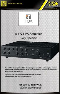 TOA Amplifier on Special - while stocks last