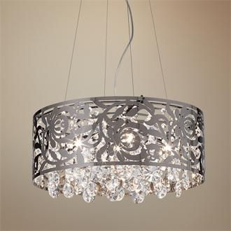 lamps plus barrel chanderlier with chrystals | There are so many variations on the traditional crystal chandelier now ...