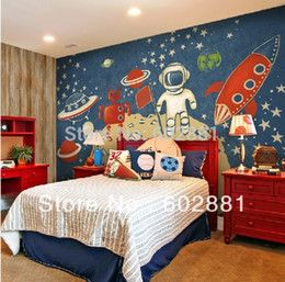 online shopping Custom Mural Eco friendly discover of Universe Non Woven paper Wallpaper wall art decor Living room bedroom Kids room