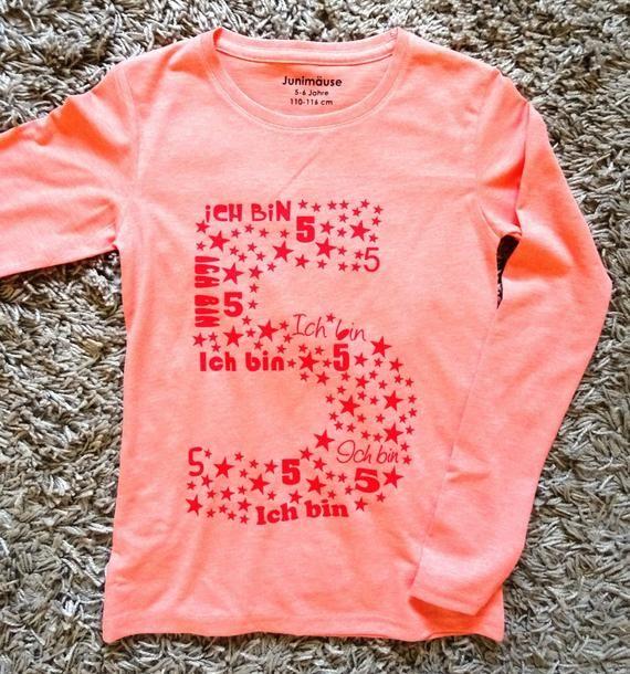 T-Shirt Geburtstag Mädchen Geburtstagsshirt personalisiert Zahl viele Motive