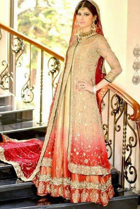 Pakistani & Indian Fashion Bridal Wedding Gowns Designs Collection 2015-2016 (28)