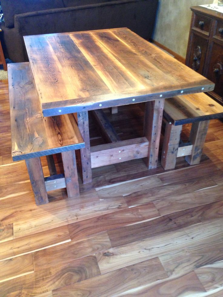 Recent Custom Order Piece. Reclaimed Barn WoodPlank TableFarmhouse