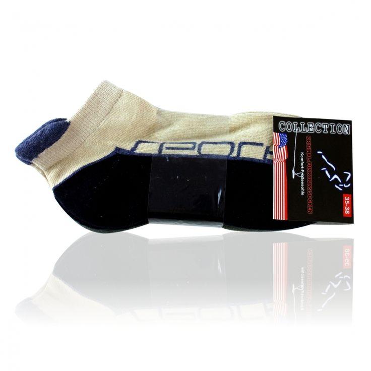 oliv-weiss   marine/beige mix Sport Sneaker Socken - 2 Paar
