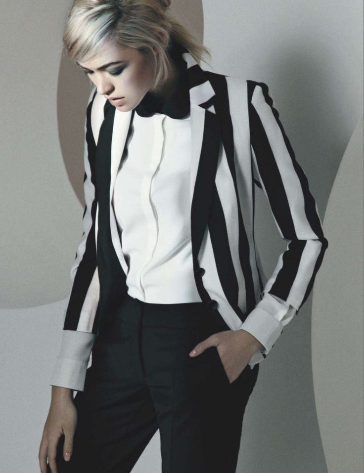 Suited & striped up.