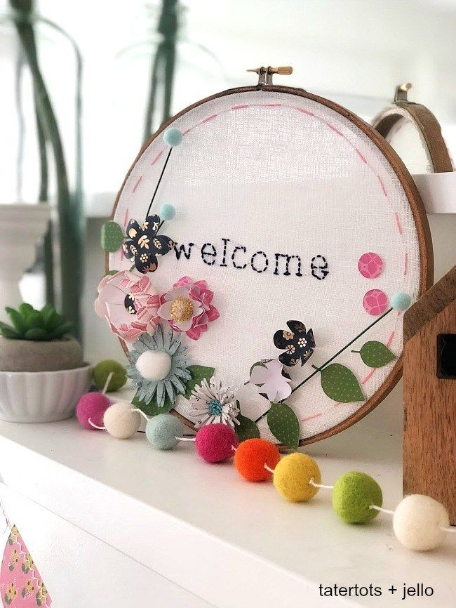 Make An Embroidery Hoop Wall Hanging A Hand Stitched Word Is