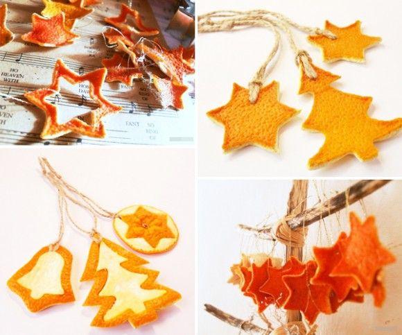 Dried Orange Peel Christmas Ornaments