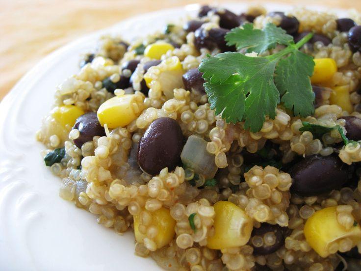 Foto recept: Quinoa met zwarte bonen en komijn