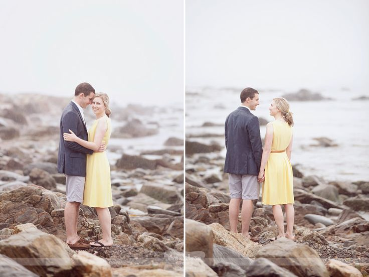 Love these rocky beach shots during an engagement photo session on #dreamlovephotography