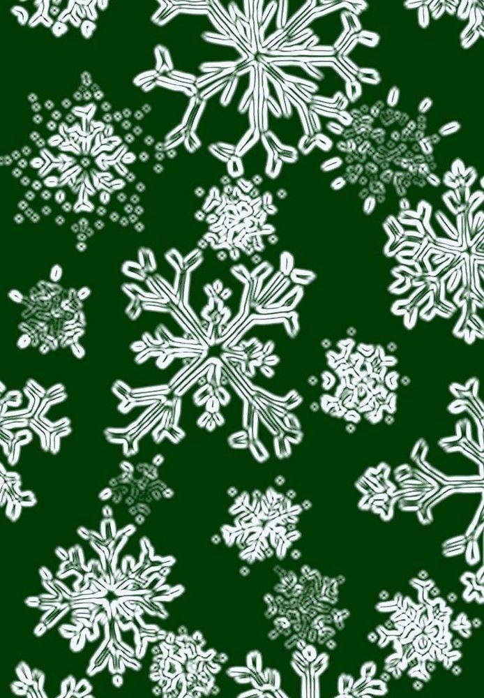 Snowflakes- green by AdrianaMijaiche