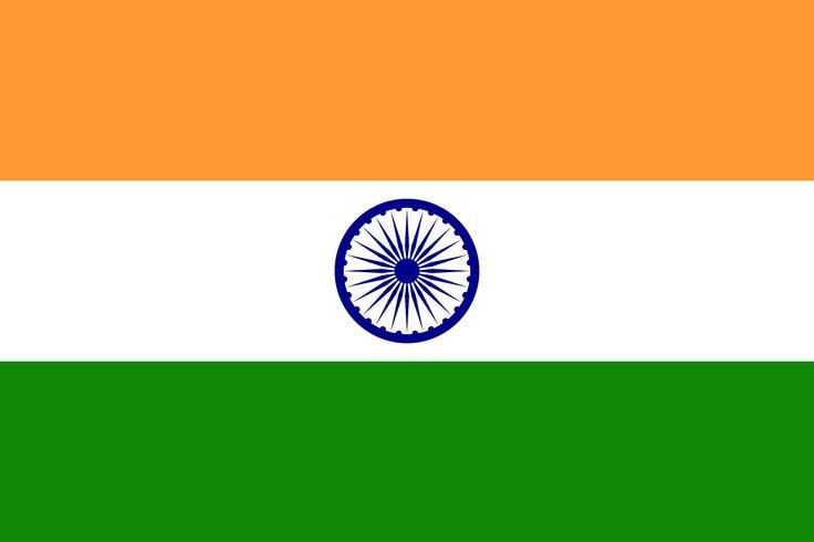 Flag of India - Bandeiras da Ásia – Wikipédia, a enciclopédia livre