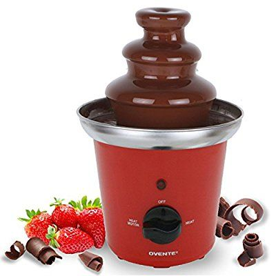 83 best chocolate fountain images on pinterest chocolate fountains ovente cfs43r two tier stainless steel party chocolate fondue fountain 9 inch red fandeluxe Image collections