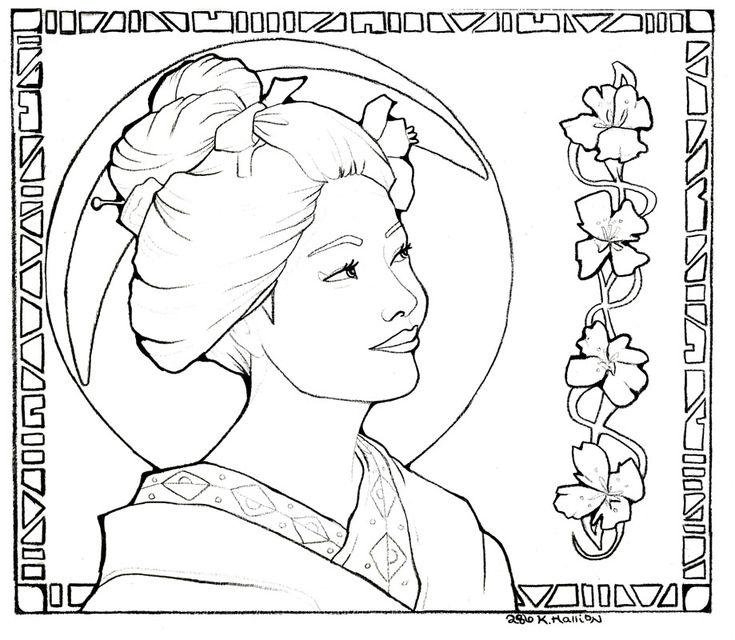 geisha drawing by  khallion on deviantart