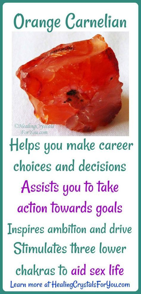Crystal Properties and Meanings #Carnelian Carnelian helps with #actiontowardsgoals Stimulates three #lowerchakras #aidssexlife Inspires #ambition and drive. Helps you make #careerchoices and #decisions