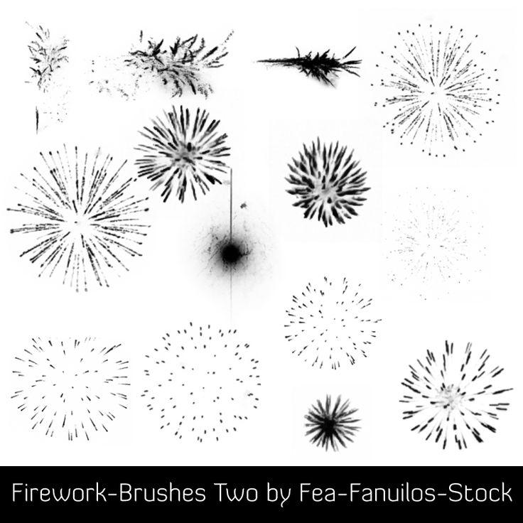 Splashing Fireworks Brushes for Photoshop Volume 2