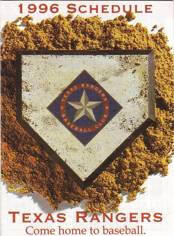 1996 texas rangers schedule--tom thumb from $0.99