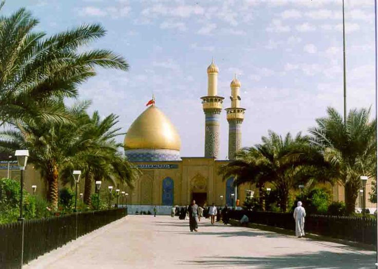 View of the Roza of Hazrat Abbas(a.s.) while standing at the Roza of Imam Hussain(a.s.)