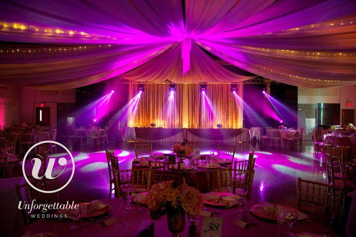 Unforgettable Weddings Sudbury Ontario Wedding Decor, Party Decor, Special Event Decor #weddingdecor #wedding #decor #ceilingdraping #colour #color
