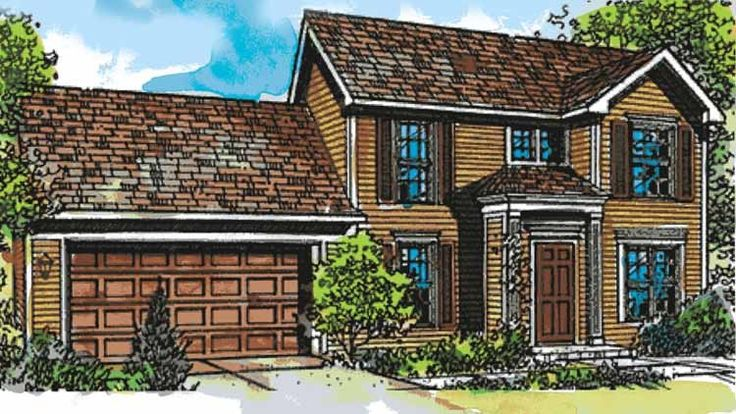 Eplans Colonial House Plan - Three Bedroom Early American