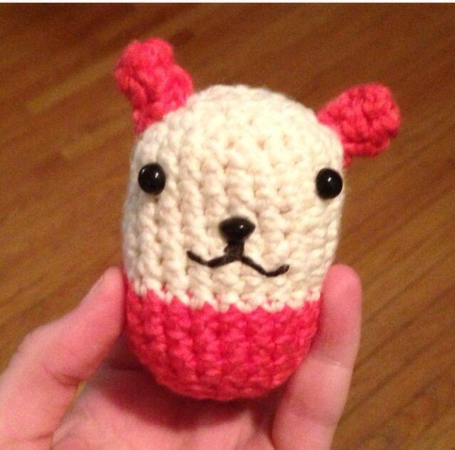 Crochet bear egg.
