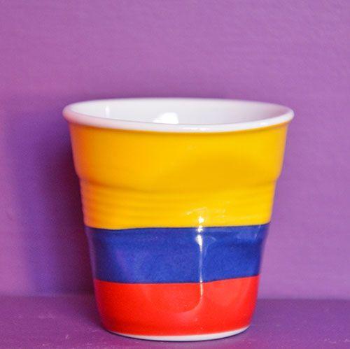 Tasse froissée Flag Colombie par Revol