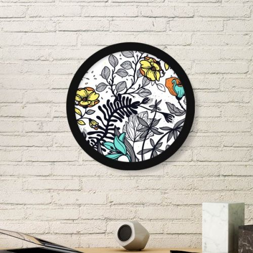 Modern Art Camellia Flowers Plants Drawing Round Simple Picture Frame Art Prints of Paintings Home Wall Decal #PictureFrame #Flowers #ArtPrints #Camellia #DecorativePainting #DecorativePattern #SimpleDesign #Art #HomeDecoration #Pattern #WallDecal #ModernArt #PrintPainting