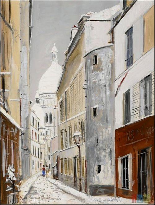 Maurice Utrillo,Sacre-Coeur de Montmartre, 1937...Inspiration for your Paris vacation from Paris Deluxe Rentals