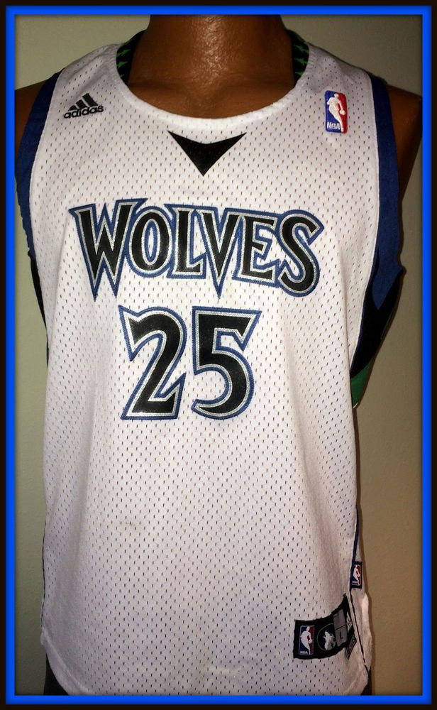 VINTAGE MINNESOTA TIMBERWOLVES AL JEFFERSON REPLICA ADIDAS JERSEY YOUTH LARGE+2 #adidas #MinnesotaTimberwolves