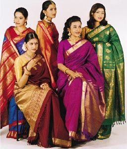 Saris: An Illustrated Guide to the Indian Art of Draping: This book is a manual to learn how to wrap (drape) 100 sari styles and other unstitched clothing of India (dhoti, mekhla, veshti). It has 700 illustrations showing step-by-step how to produce these costumes from the flat piece of cloth. Many of these styles are about to be forgotten and this book will soon be the only way to learn some traditional sari wrapping techniques.  \|/