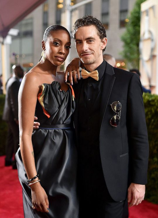 Actress Condola Rashad and her love at a red carpet event.